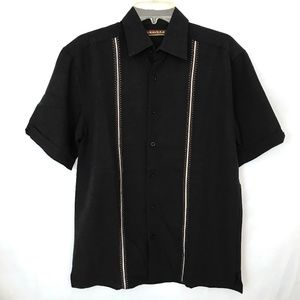 Short Sleeve Embroidered Camp Bowling Shirt